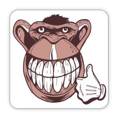 Костер (подставка под кружку) Веселая обезьяна