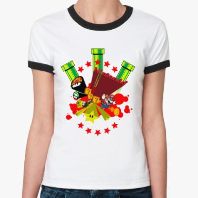 Женская футболка Ringer-T Nintendo  Ж()