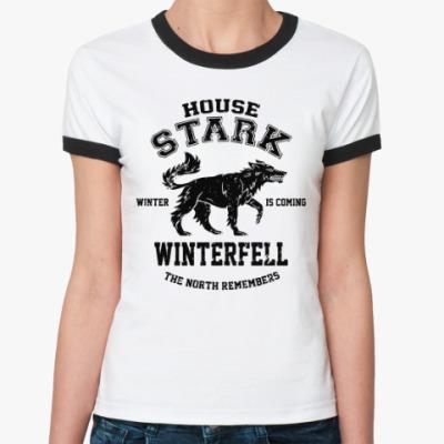Женская футболка Ringer-T Игра престолов.Винтерфелл