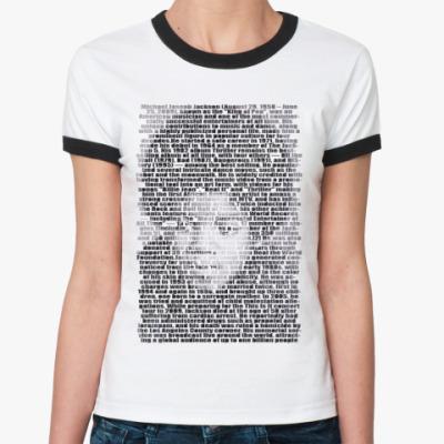 Женская футболка Ringer-T Litle Michael Jackson