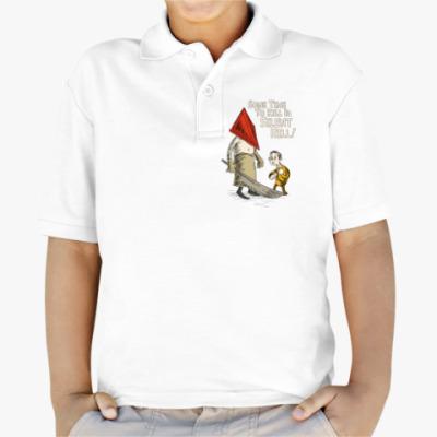 Детская рубашка поло Silent Hill Pyramid Head