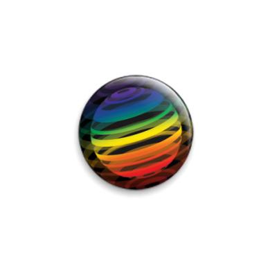 Значок 25мм   Разноцветный шар