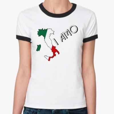 Женская футболка Ringer-T Я люблю тебя по-итальянски