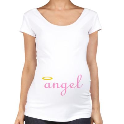 Футболка для беременных Ангел