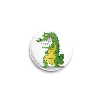 Значок 25мм Злобный крокодил