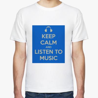 Футболка Keep calm and listen to music