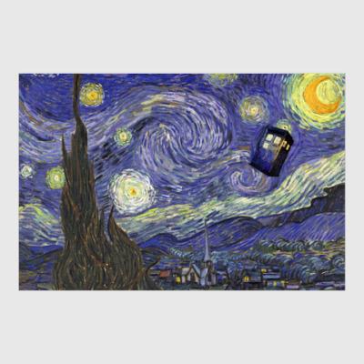 Постер Звездная ночь - с Тардис