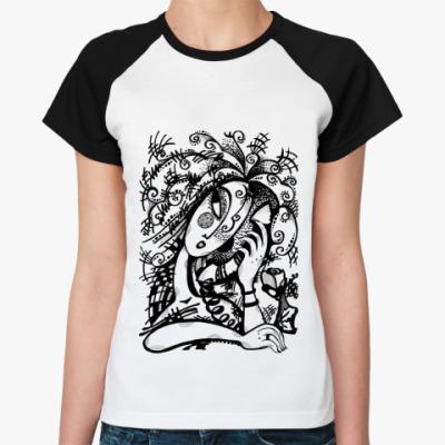 Женская футболка реглан Телефонный разговор