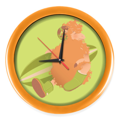 Настенные часы Animal Fashion | U is for 'Uggs' on merinos