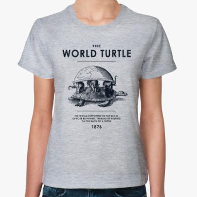 Женская футболка  World Turtle
