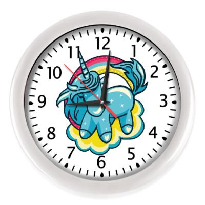 Настенные часы Волшебный Единорог