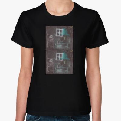 Женская футболка рисунок