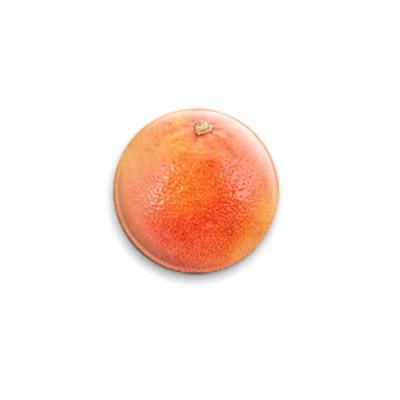 Значок 25мм  Грейпфрут