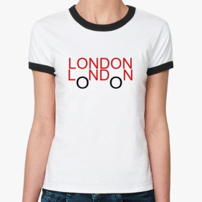 Женская футболка Ringer-T London