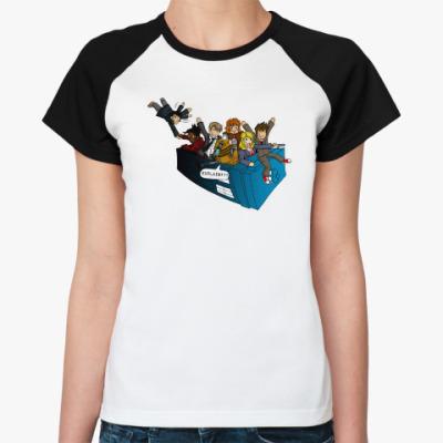 Женская футболка реглан Doctor Who