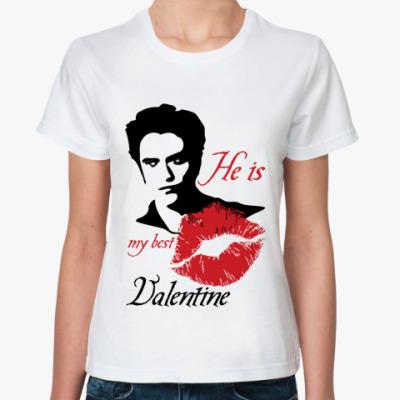 Классическая футболка My best Valentine