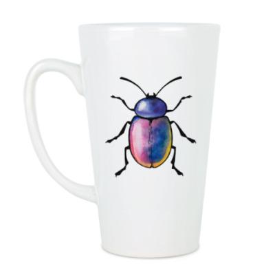 Чашка Латте Радужный жук