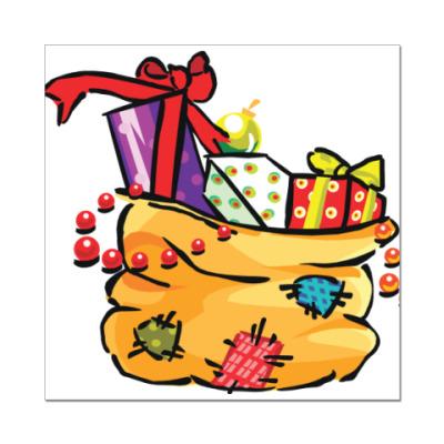 Наклейка (стикер) Лучший твой подарочек - это Я