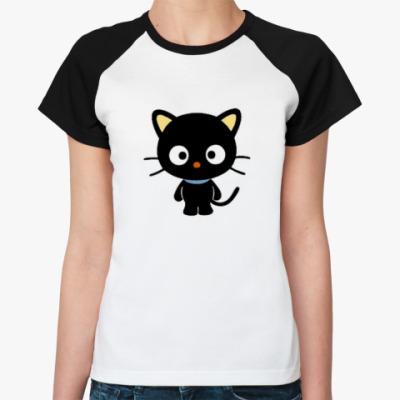 Женская футболка реглан   Chococat