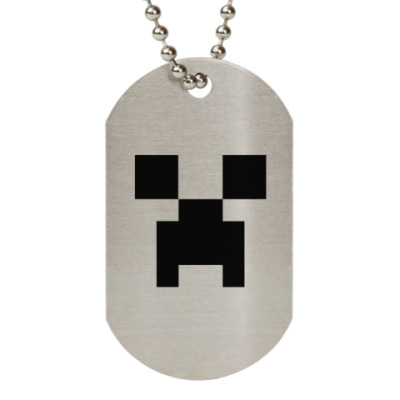 Жетон dog-tag  (металлик)(Крипер)