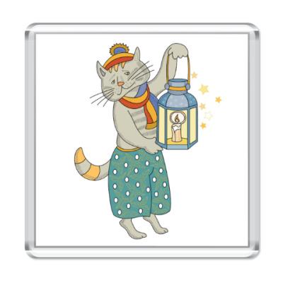 Магнит Кошка на счастье