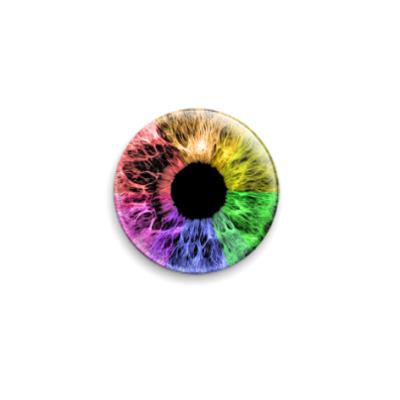 Значок 25мм  Rainbow Eye
