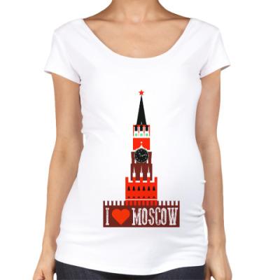 Футболка для беременных Я люблю Москву