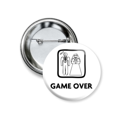 Значок 37мм Game Over. HELP!