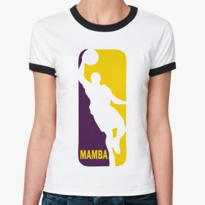 Женская футболка Ringer-T Black Mamba
