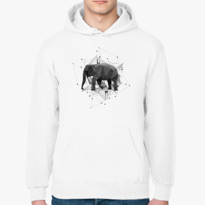 Толстовка худи Геометрический Слон