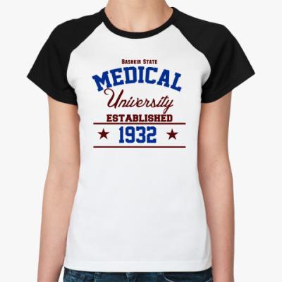 Женская футболка реглан БГМУ