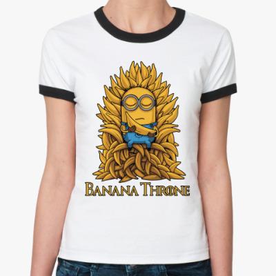 Женская футболка Ringer-T Banana Throne
