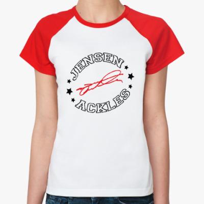 Женская футболка реглан Дженсен Эклз - Supernatural