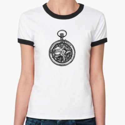 Женская футболка Ringer-T Часы