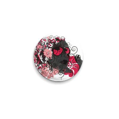 Значок 25мм Девушка из цветов