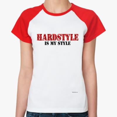 Женская футболка реглан Hard Style