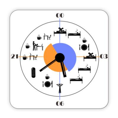 Костер (подставка под кружку) Расписание для мужчины