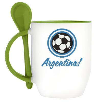 Кружка с ложкой Аргентина