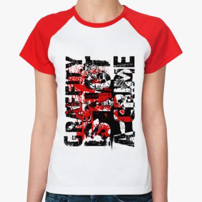 Женская футболка реглан Graffity   Ж(б/к)