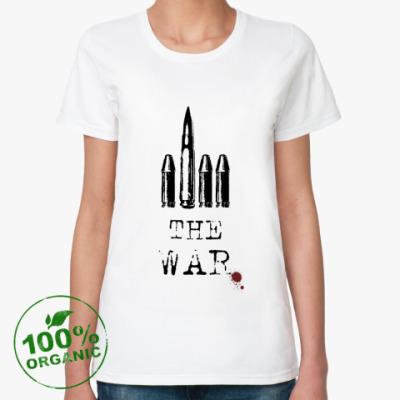 Женская футболка из органик-хлопка  F*ck the war