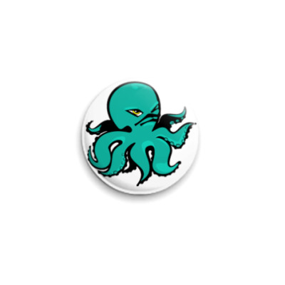 Значок 25мм octopus
