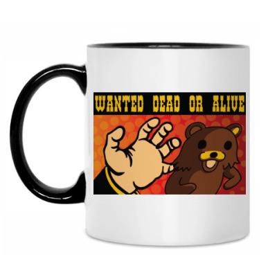 Кружка Pedobear: Wanted Dead or Alive