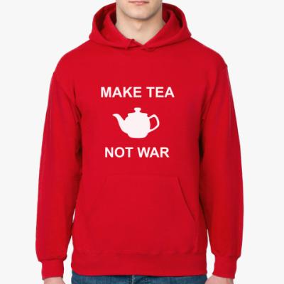 Толстовка худи Make Tea Not War