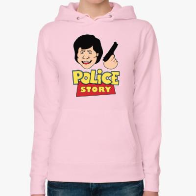 Женская толстовка худи Police story