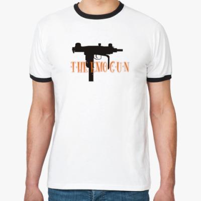Футболка Ringer-T   'The emo gun'