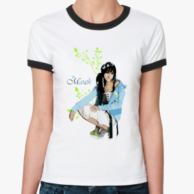 Женская футболка Ringer-T March