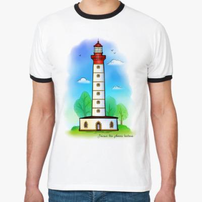 Футболка Ringer-T  «Бретонский маяк»