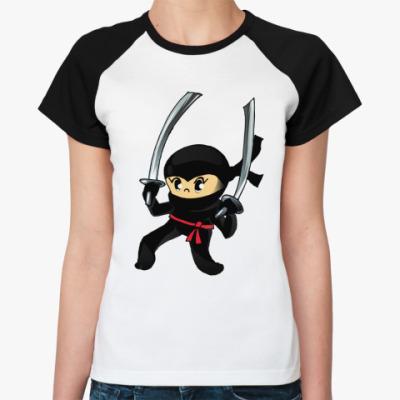 Женская футболка реглан Ниндзя
