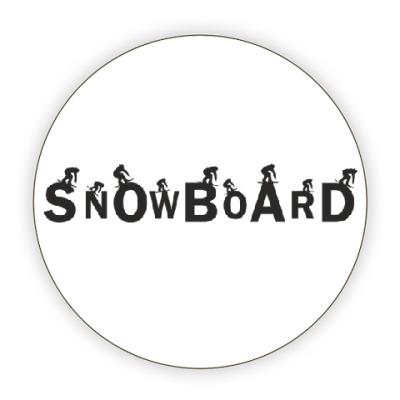 Костер (подставка под кружку) Snowboard