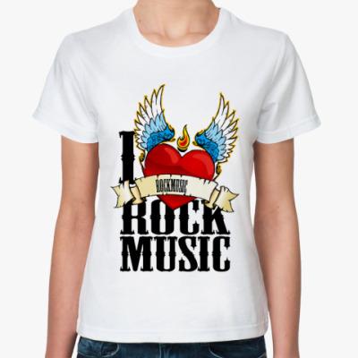 Классическая футболка Love ROCK ( жен )